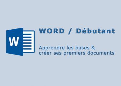 Word 2016 – Apprendre les bases et créer des documents simples
